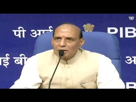Press Conference by Shri Rajnath Singh on Achievements in the first 100 days.
