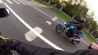 Kawasaki Ninja 636 vs Z1000 (Riding with Friend)  Moscow