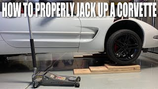 How To Jack Up a C5/C6 Corvette