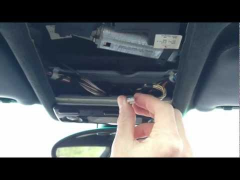 BMW E39 5 Series HomeLink Garage Door Opener Install. Program