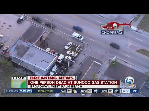 Police investigate death near West Palm Beach gas station