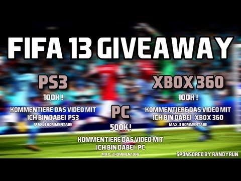 FIFA 13 Ultimate Team Giveaway für PS3. XBOX 360 und PC!