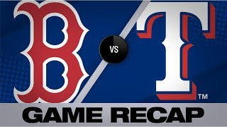 Moreland goes 4-for-5 with HR in 10-3 win | Red Sox-Rangers Game Highlights 9/25/19