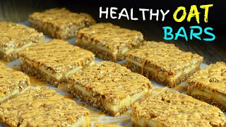 Healthy Apple Peanut Butter Oatmeal Bars