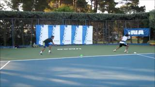 Functional Tennis -  Improving speed on court using bungee rope for tennis players