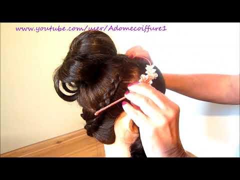 Coiffure bouclée, nattée - Curly, braided Hairstyle - Peinado/recogido con bucles/rizos, trenzas