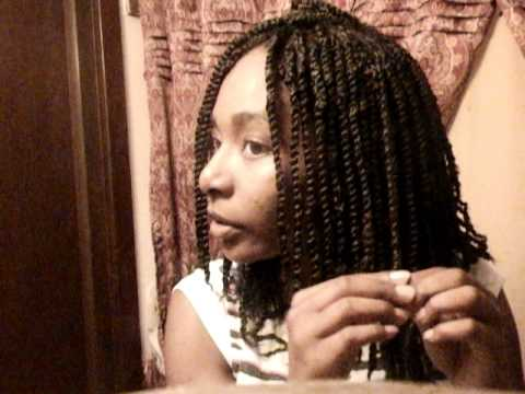 2 strand twist on Natural Hair using Bob Marley Kinky Hair Tutorial Part 2