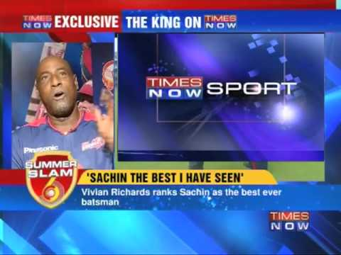 """Sachin is a living legend"" - Sir Viv Richards"