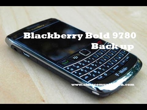 BlackBerry Bold 9780 Backup contacts, mails, data