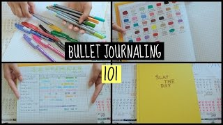 Bullet Journaling 101 (How to set it up & flip through)