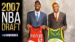 2007 NBA Draft Highlights - Selections Of KD, Oden, Horford, Noah!