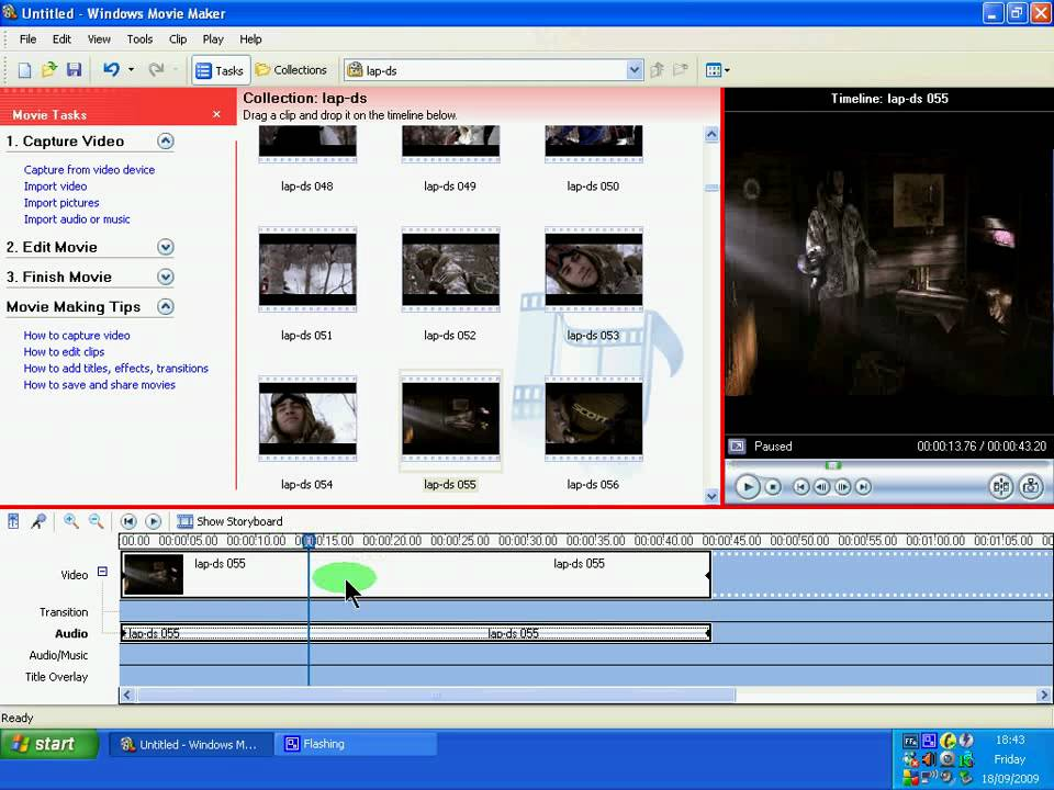 how to mute part of a video in window movie maker youtube