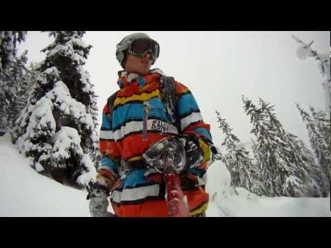 Snowboard tree run compilation by Mike Knowles 2012