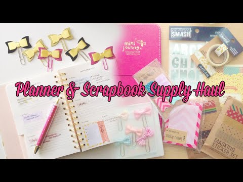 Cute Planner & Scrapbook Supplies Haul! | Charmaine Dulak