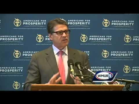 Texas Gov. Rick Perry visits NH