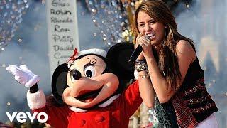 Miley Cyrus Santa Claus Is Coming To Town Live At Disney World Christmas Parade