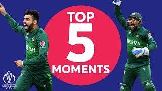 Shadab? Super Sarfaraz? | New Zealand v Pakistan - Top 5 Moments | ICC Cricket World Cup 2019