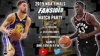 2019 NBA Finals:  Golden State Warriors vs. Toronto Raptors (Game 6)