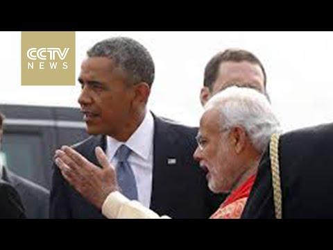 U.S. president begins three-day visit to India
