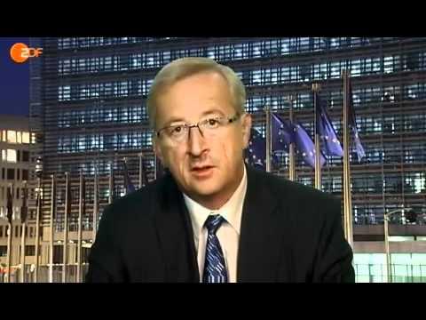 Chef der Euro-Gruppe, Jean-Claude Juncker, im ZDF heutejournal