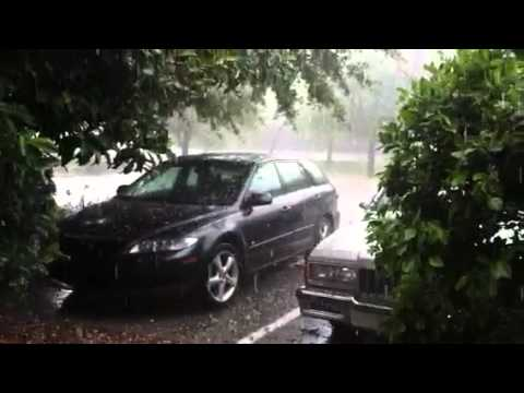 Hail storm in Freeport, Fl