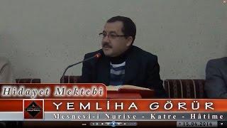 Yemliha Görür - Mesnevi-i Nuriye - Katre - Hâtime