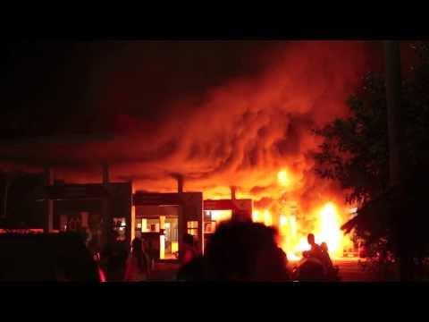 SPBU Terbakar di Langkat, Sumatera Utara