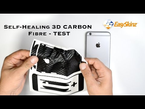 Self-Healing iPhone 6S PLUS CARBON Fibre Skin Wrap Decal by EasySkinz - Test
