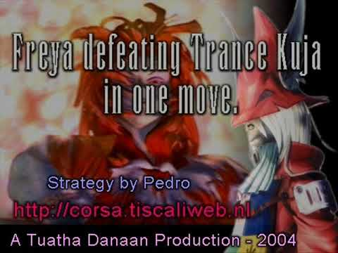 Final Fantasy IX Freya beating Trance Kuja in one move