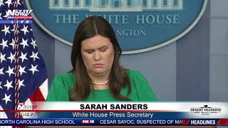 MUST WATCH: Sarah Sanders Double Downs On Slamming CNN's Jim Acosta Over Fake News