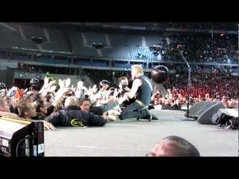 Metallica STADE DE FRANCE James Hetfield SEEK AND DESTROY