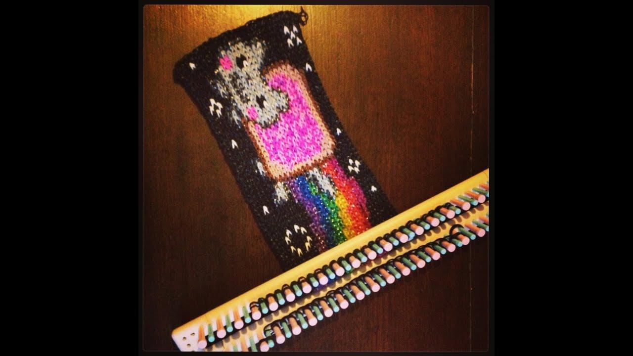 Rainbow Nyan Cat Loom Bands Mural - YouTube