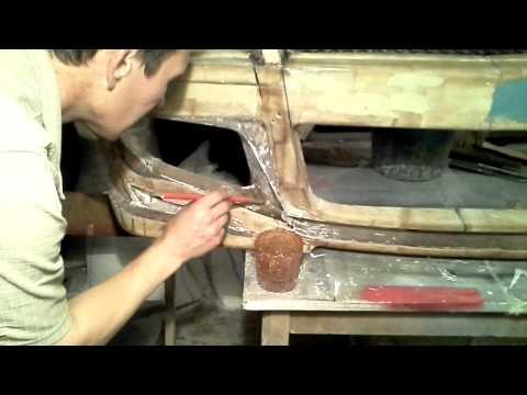 Изготовление бамперов из стекловолокна своими руками 84