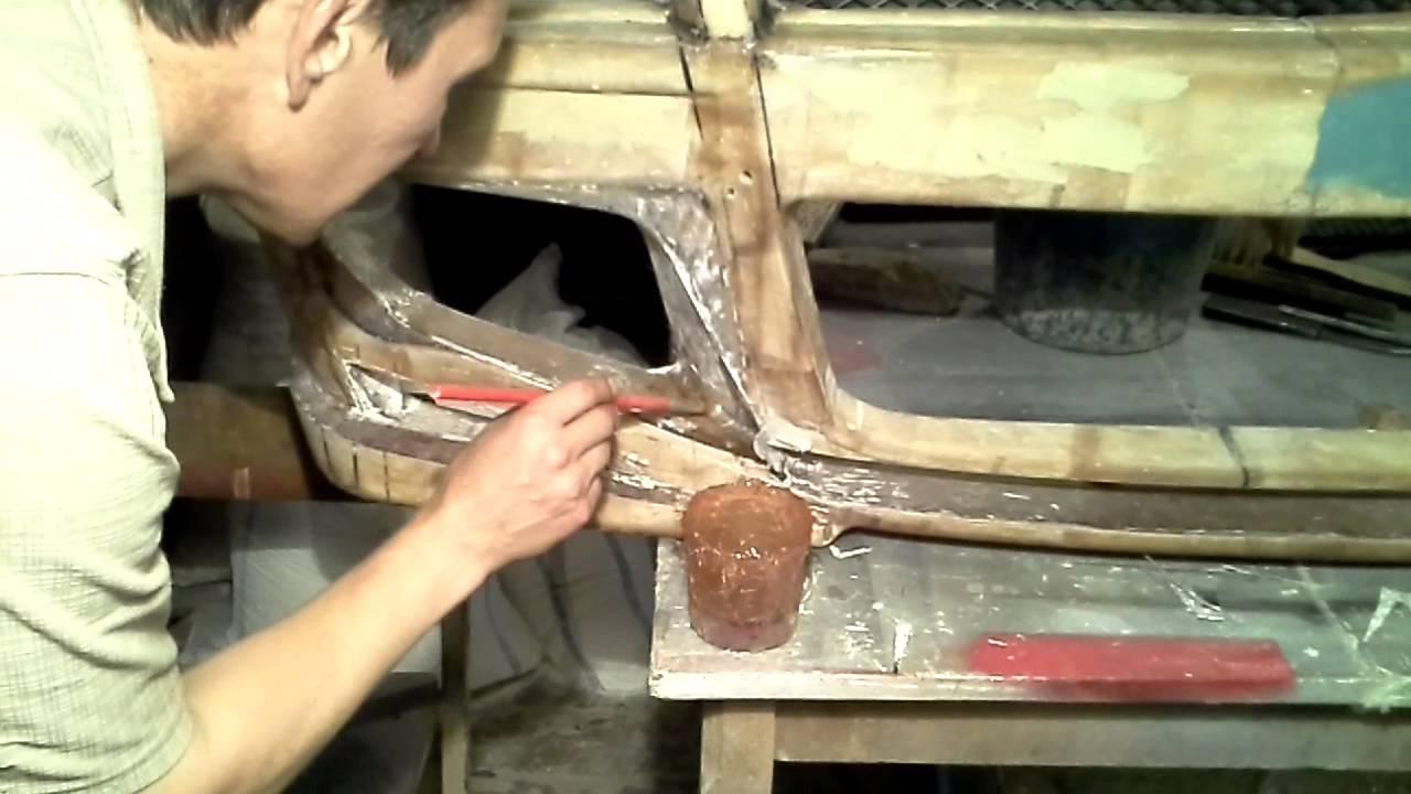 Ремонт бамперов своими руками стекловолокно