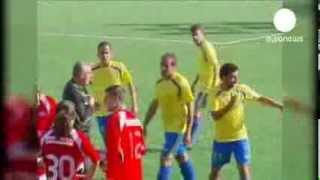 Referee chased and attacked by players   euronews, Sport