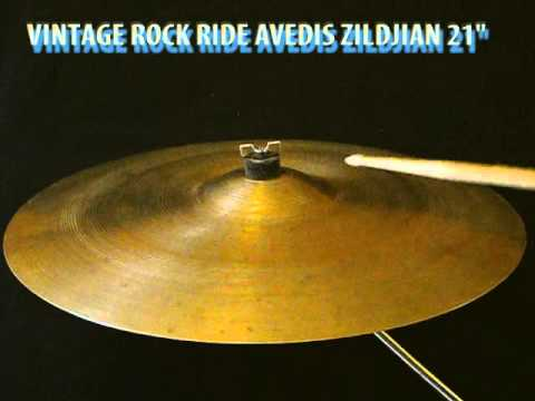 "Vintage 70' Zildjian Avedis Rock Ride 21"" cymbal"
