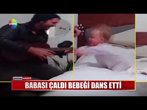 Babası çaldı bebeği dans etti