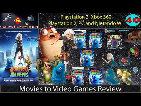 Movies to Video Games Review - Monsters vs. Aliens (PS3. Xbox360. Wii. PS2. PC)