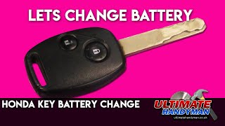 Honda key battery replacement