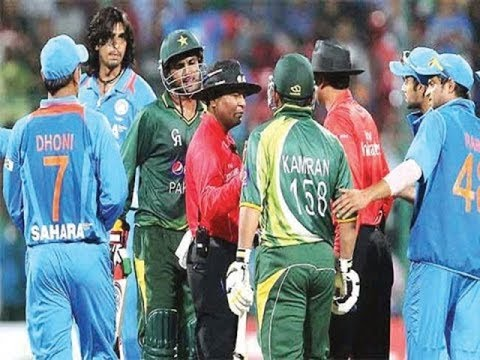 India Vs Pakistan Six Biggest Fights Of Cricket video