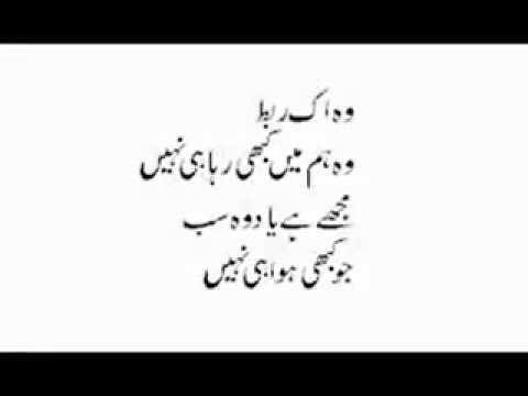 Urdu Shayri Main Bhool Jaaon Ab Yehi Munasib Hai