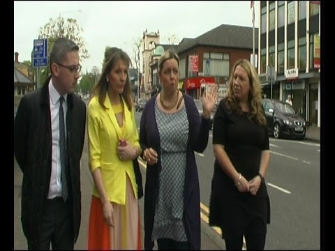 Sinn Féin's 6 County EU election candidate Martina Anderson was on the streets of South and East Belfast with local Sinn Féin councillors and election candid...