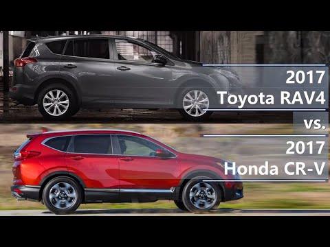 2017 Toyota RAV4 vs 2017 Honda CR-V (technical comparison)