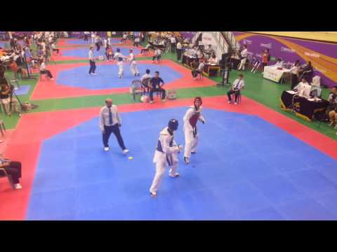 Javier Medina 1er Combate  Korea Open  Taekwondo video