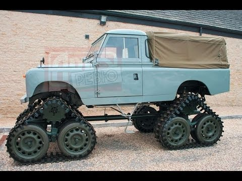 Авто на гусеницах  видео