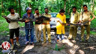 14 Feet Python Rescued by Forest Dept In Nagaon Assam  Telugu News