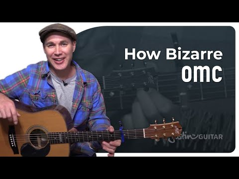 How Bizarre - OMC - Very Easy 3 chord Beginner Song Guitar Lesson (BS-109)