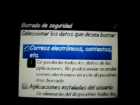 Borrado de Fabrica en BlackBerry