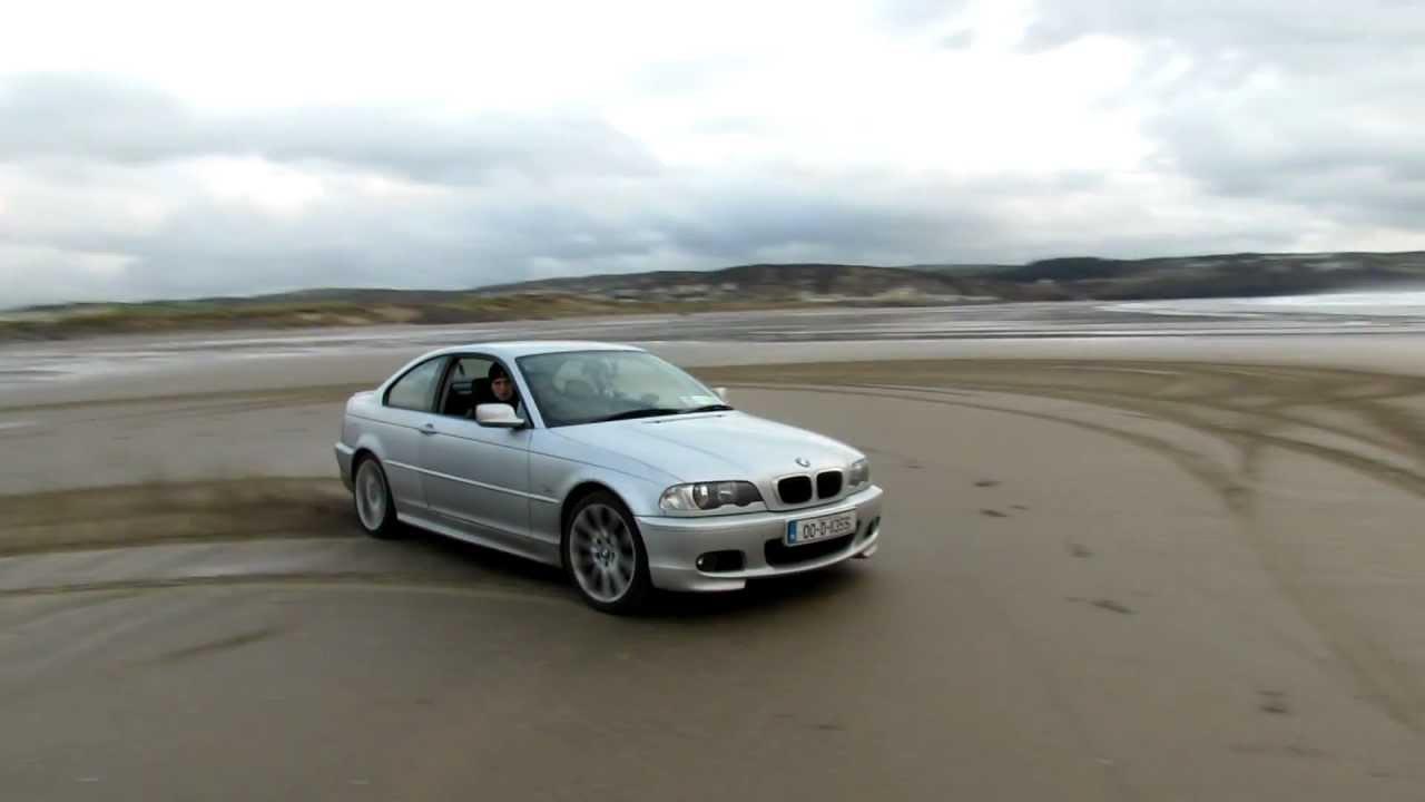 Bmw E46 320ci Coupe 2 2 M54 170hp Beach Drift Burnout Full Hd Youtube