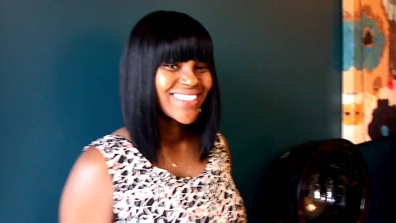 Sew In Weave Hairstyles With Chinese Bangs Chinese bangs  sew in